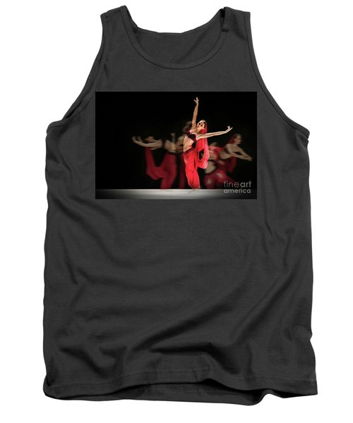 Tank Top featuring the photograph La Bayadere Ballerina In Red Tutu Ballet by Dimitar Hristov