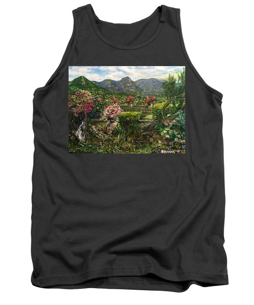 Tank Top featuring the painting La Belle Vence by Belinda Low