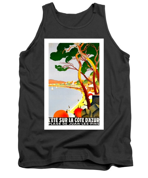 La Cote D Azur French Riviera 1930 Roger Broders Tank Top