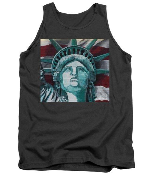 Lady Liberty Tank Top by Stan Tenney