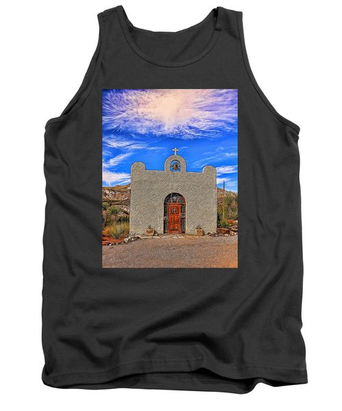 Lajitas Chapel Painted Tank Top by Judy Vincent
