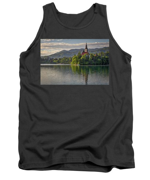Tank Top featuring the photograph Lake Bled Morning #2 - Slovenia by Stuart Litoff