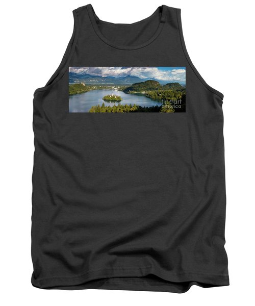 Tank Top featuring the photograph Lake Bled Pano by Brian Jannsen