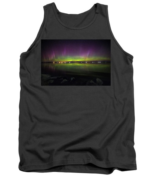 Tank Top featuring the photograph Lake Byron Aurora  by Aaron J Groen