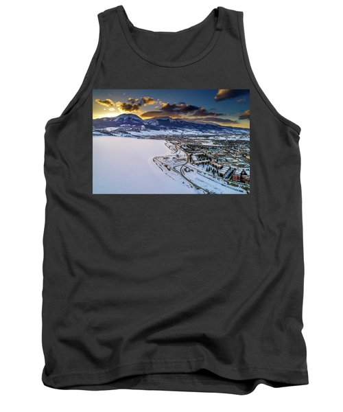 Tank Top featuring the photograph Lake Dillon Sunset by Sebastian Musial