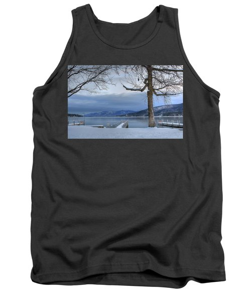 Lake George In The Winter Tank Top by Sharon Batdorf