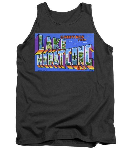 Lake Hopatcong Greetings Tank Top