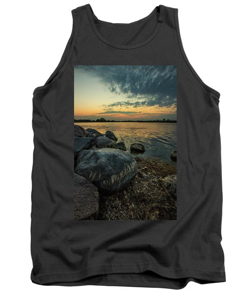 Tank Top featuring the photograph Lake Louise Dusk  by Aaron J Groen