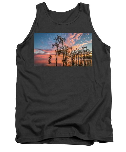Lake Maurepas On Fire Tank Top