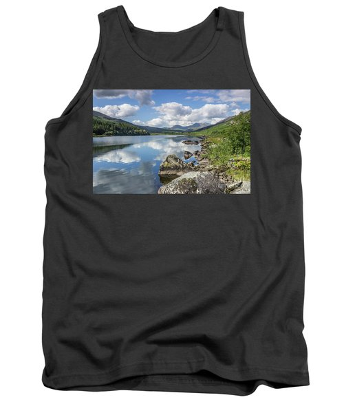 Lake Mymbyr And Snowdon Tank Top by Ian Mitchell