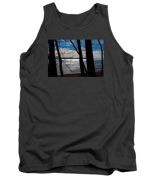 Tank Top featuring the photograph Lake Romance by Valentino Visentini