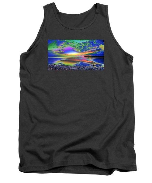 Lake Sunset Abstract Tank Top