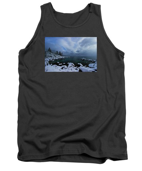 Lake Tahoe Snow Day Tank Top by Sean Sarsfield