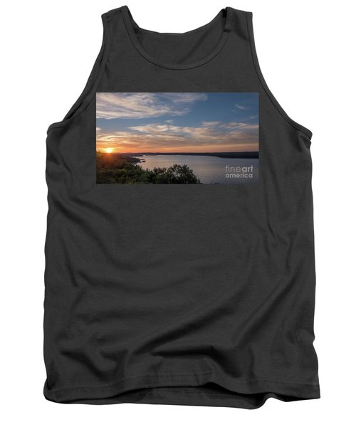 Lake Travis During Sunset With Clouds In The Sky Tank Top