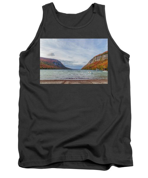 Lake Willoughby Blustery Fall Day Tank Top by Tim Kirchoff