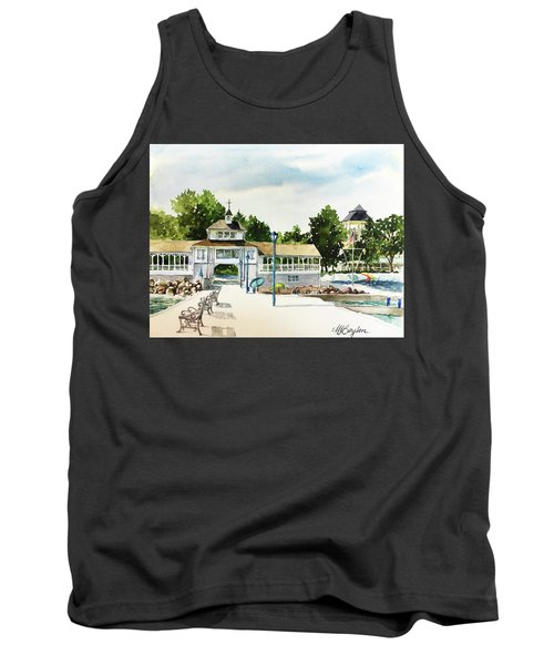 Lakeside Dock And Pavilion Tank Top