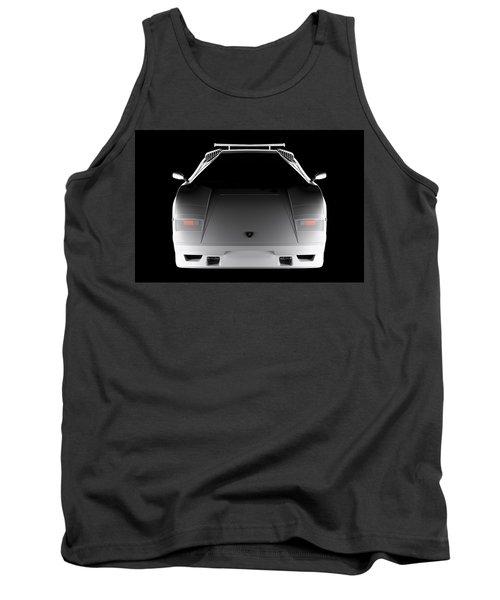 Lamborghini Countach 5000 Qv 25th Anniversary - Front View  Tank Top