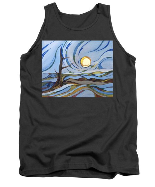 Tank Top featuring the painting Land Of The Midnight Sun by Pat Purdy