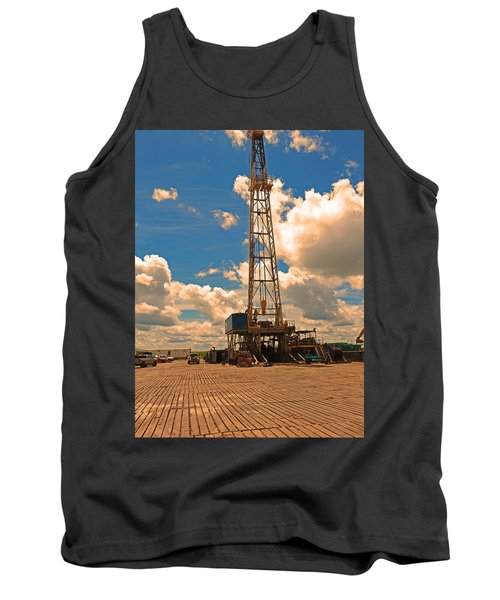 Land Oil Rig Tank Top by Ronald Olivier