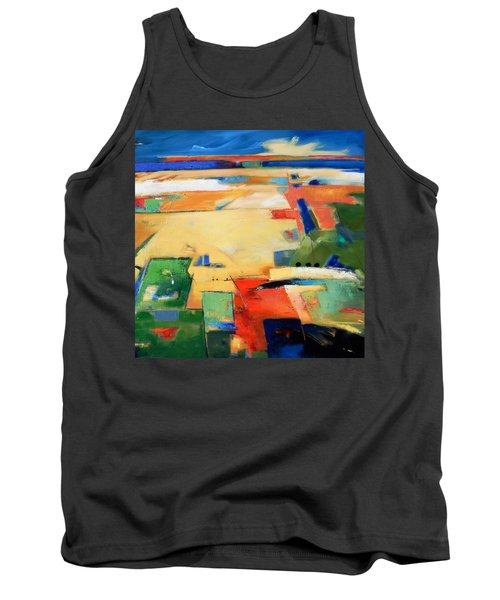 Tank Top featuring the painting Landforms, You've Never Been Here by Gary Coleman