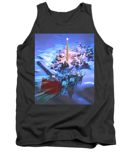 Landing At The North Pole Tank Top by Dave Luebbert