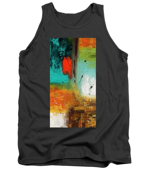 Tank Top featuring the painting Landmarks by Carmen Guedez
