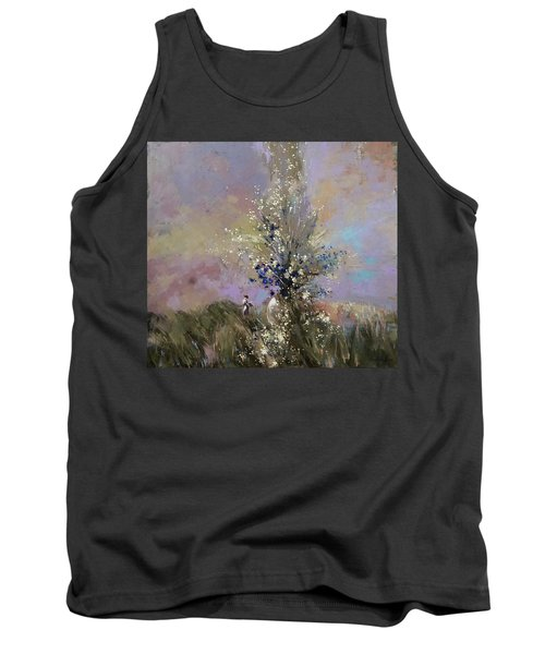 Tank Top featuring the painting Landscape . I Was Lucky Today. by Anastasija Kraineva