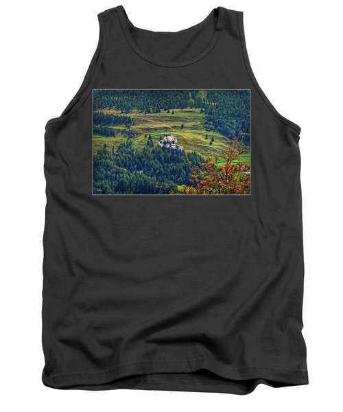 Tank Top featuring the photograph Landscape With Castle by Hanny Heim