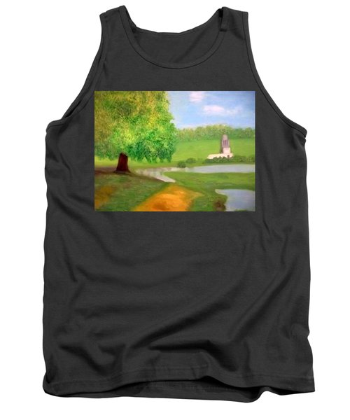 Landscape With Luxuriant Tree And Folly Tank Top