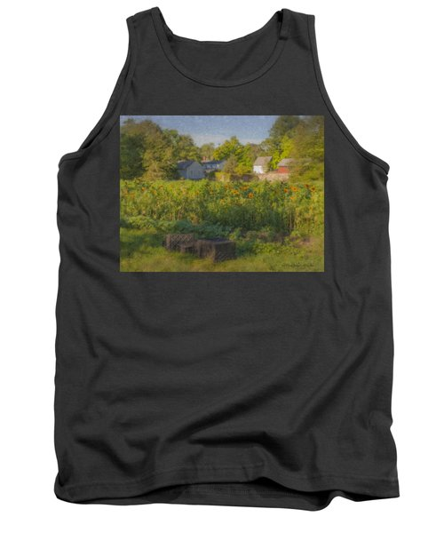 Langwater Farm Sunflowers And Barns Tank Top