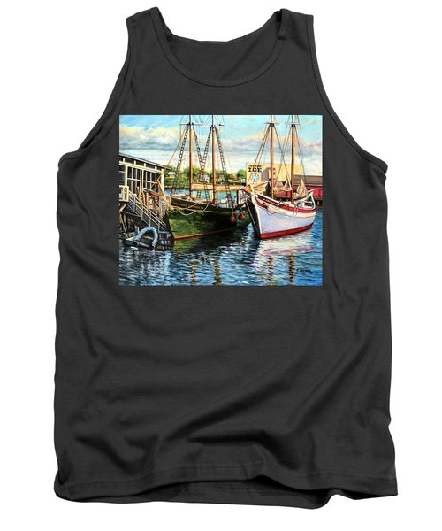 Lannon And Ardelle Gloucester Ma Tank Top by Eileen Patten Oliver