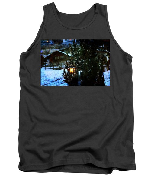 Lantern In The Woods Tank Top by Vittorio Chiampan