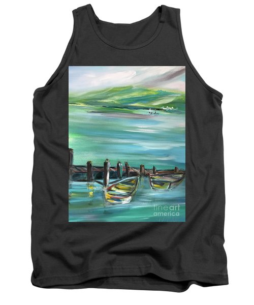 Large Acrylic Painting Tank Top