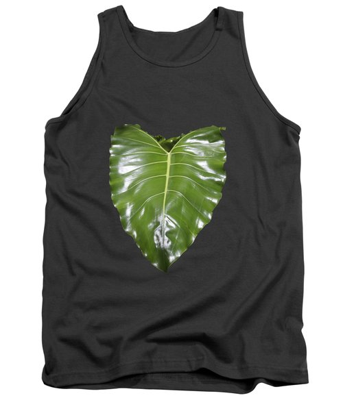 Large Leaf Transparency Tank Top