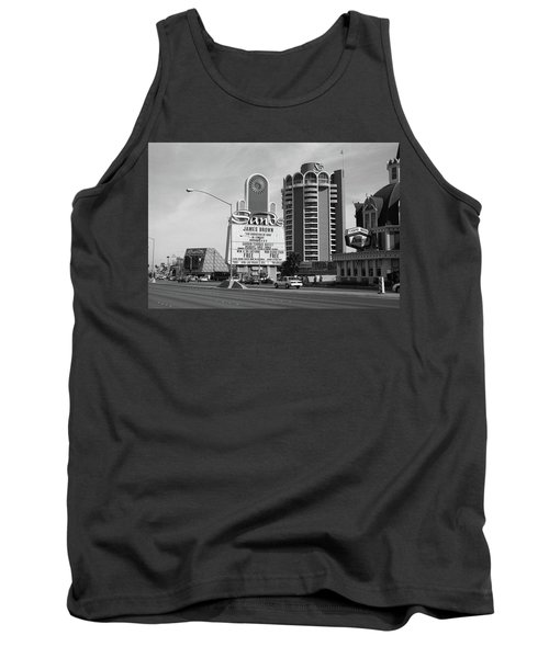 Tank Top featuring the photograph Las Vegas 1994 #1 Bw by Frank Romeo