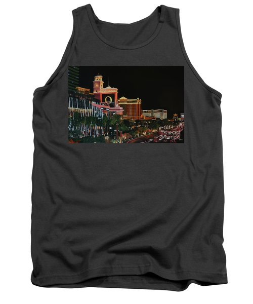 Las Vegas Strip Oil On Canvas Painting Tank Top