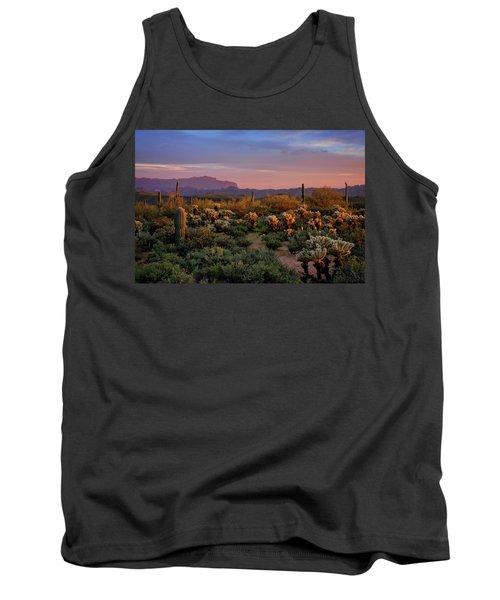 Tank Top featuring the photograph Last Light On The Sonoran  by Saija Lehtonen
