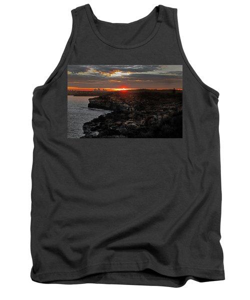 Tank Top featuring the photograph Last Light Over North Head Sydney by Miroslava Jurcik