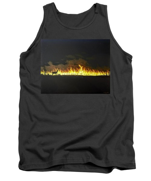 Tank Top featuring the painting Last Look Back At Home by Kevin Daly