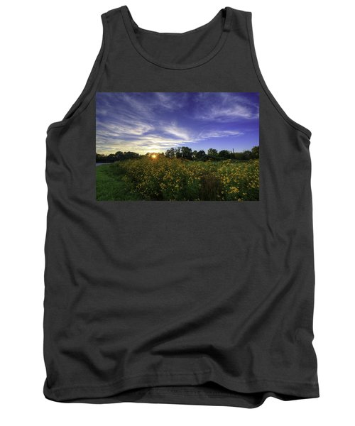 Last Rays Over The Flowers Tank Top