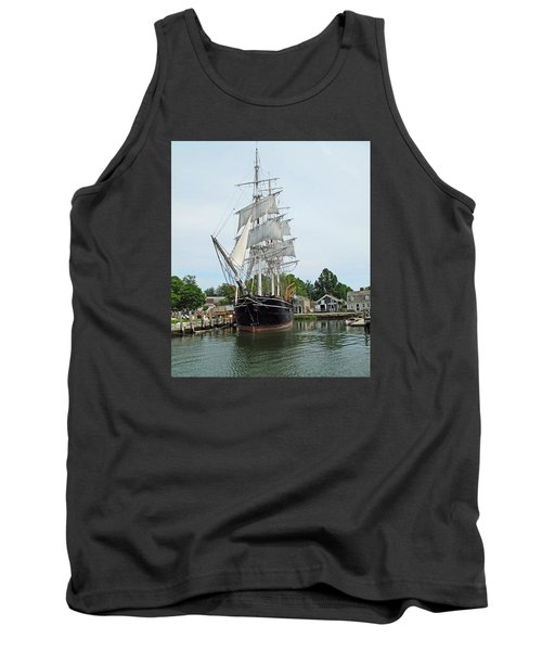 Last Wooden Whale Ship Tank Top
