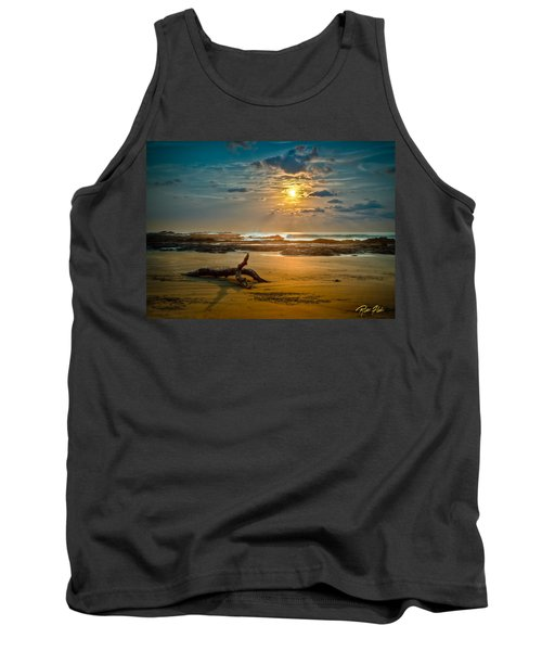 Tank Top featuring the photograph Late Afternoon Costa Rican Beach Scene by Rikk Flohr