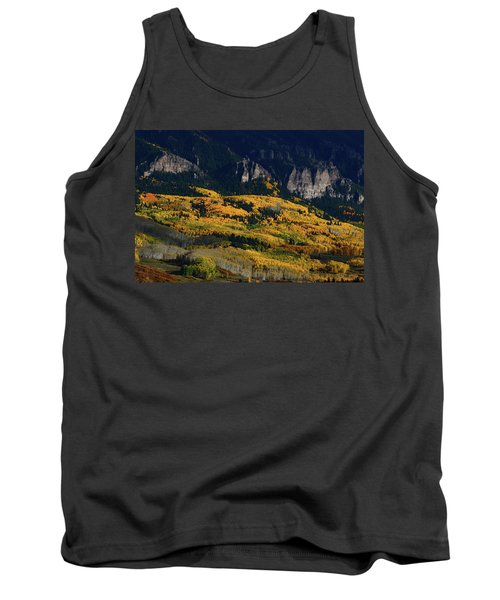 Late Afternoon Light On Aspen Groves At Silver Jack Colorado Tank Top