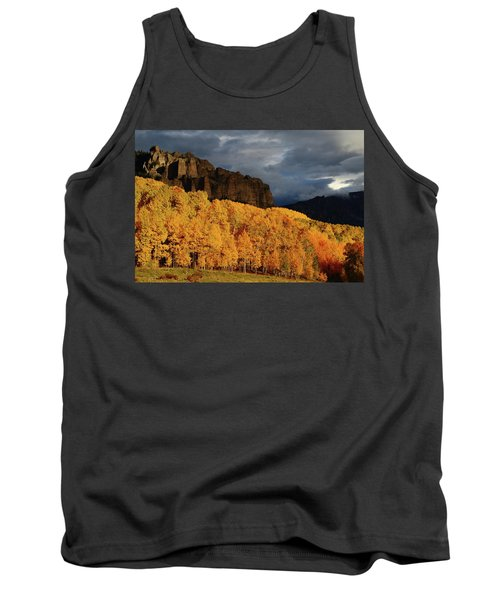 Late Afternoon Light On The Cliffs Near Silver Jack Reservoir In Autumn Tank Top