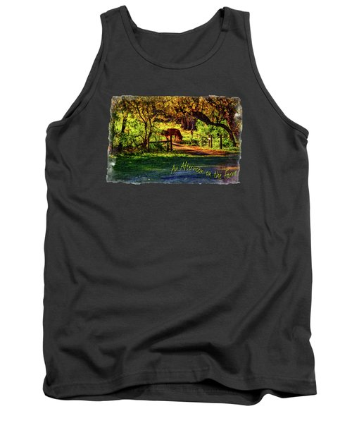 Late Afternoon On The Farm Tank Top