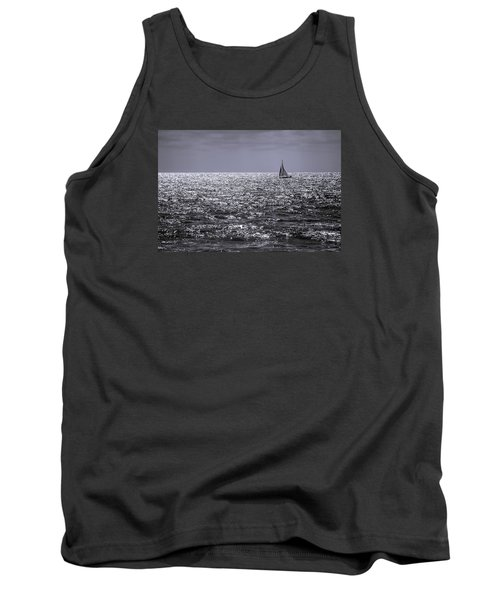 Sailboat Off The Coast At San Diego Tank Top