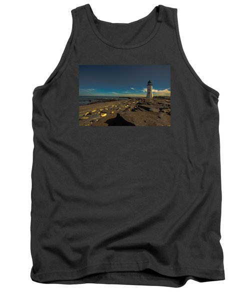 Late Light At The Light Tank Top by Brian MacLean