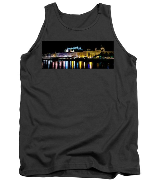 Tank Top featuring the photograph Late Night Stroll In Salzburg by David Morefield
