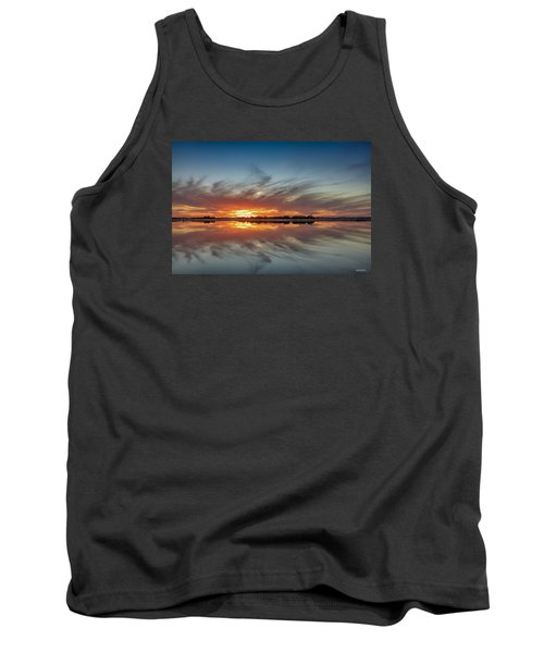Tank Top featuring the digital art Late November Reflections by Phil Mancuso