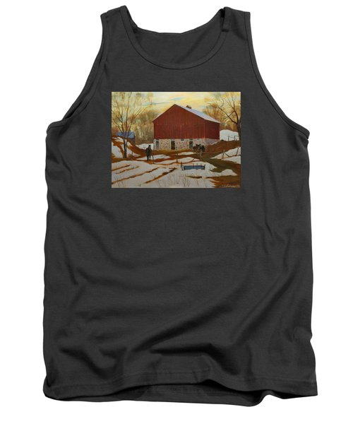 Late Winter At The Farm Tank Top by David Gilmore